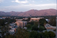 A view from the bell tower of UC Riverside.