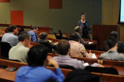 USDA Under Secretary for Research, Education and Economics Cathie Woteki gave a talk titled