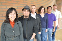 From left to right, Kawai Tam, James Gutierrez, Andrew Mikkelson, Cindy Brito, Alfred Liu and Caleb Stanton.
