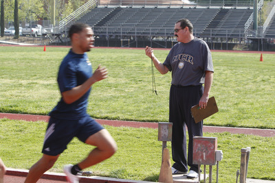 One of his jobs undercover: track coach. <br />