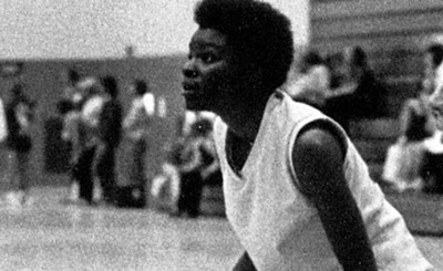 Mavis Washington, UCR class of '72, in her days as a player. She played four sports during her college years.