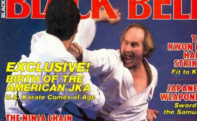 Ray Dalke on the cover of Black Belt magazine. He coached karate at UCR for 30 years.