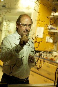Guy Bertrand is a distinguished professor of chemistry at UC Riverside.  Photo credit: L. Duka.  (Another photo below.)