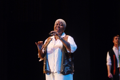 Karen Wilson performs in concert.