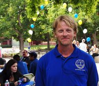 James Dixon was applauded as a hero at the fall picnic at UC Riverside for his volunteer work on a search and rescue team. Photo by Konrad Nagy.