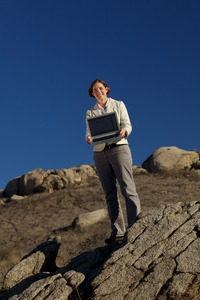 Elizabeth Cochran is an adjunct assistant professor at UC Riverside. In June 2011, she joined the US. Geological Survey.  Photo credit: L. Duka. (Another photo below.)
