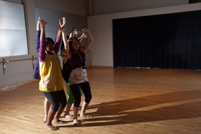 A UC Riverside student dance group performs at a celebration of the gift to the campus. Photo by Peter Phun.
