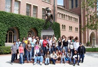 Students from the San Bernardino City Unified School District visited USC as part of the Educational Talent Search program at UC Riverside. The program helps put low-income and potential first-generation students on the path to college.