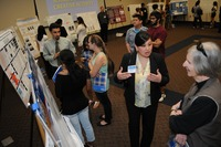 Undergraduate students present their research and creative activity projects at the 2011 Symposium for Undergraduate Research, Scholarship and Creative Activity.