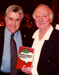Author John de Pillis with Jay Leno, host of the Tonight Show, NBC.