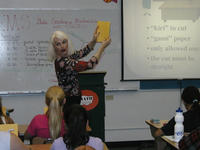 Dr. Pamela Clute Leading a GEMS session in 2003