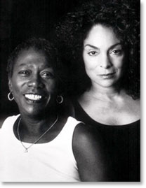 Afeni Shakur and Jasmine Guy