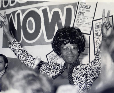 Shirley Chisholm campaigns for the presidency in 1972. Photo credit: Rose Greene, used by permission